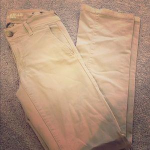 American Eagle Khaki Pants Size 4